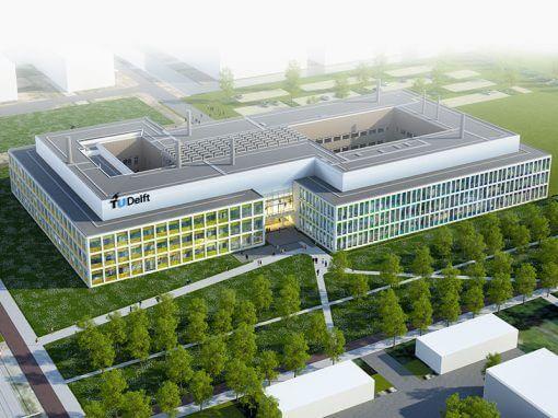 Nieuwbouw faculteit Technische Natuur Wetenschappen TU Delft