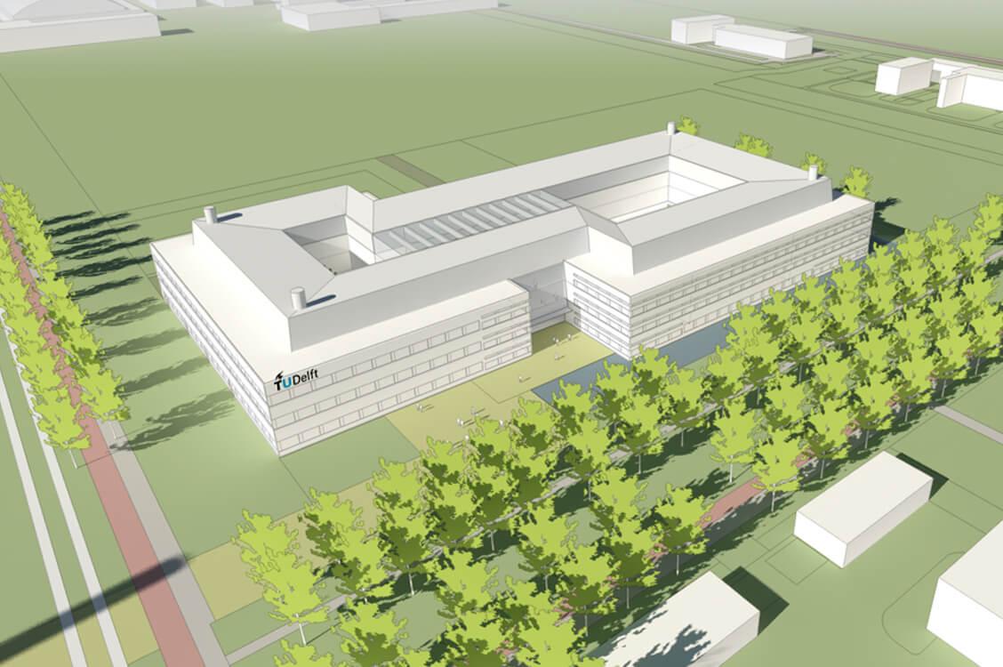 Nieuwbouw faculteit Technische Natuur Wetenschappen TU Delft  (installatietechniek)