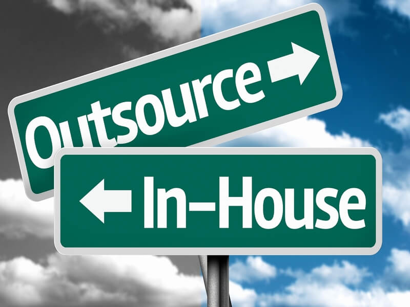 in house en outsourcing