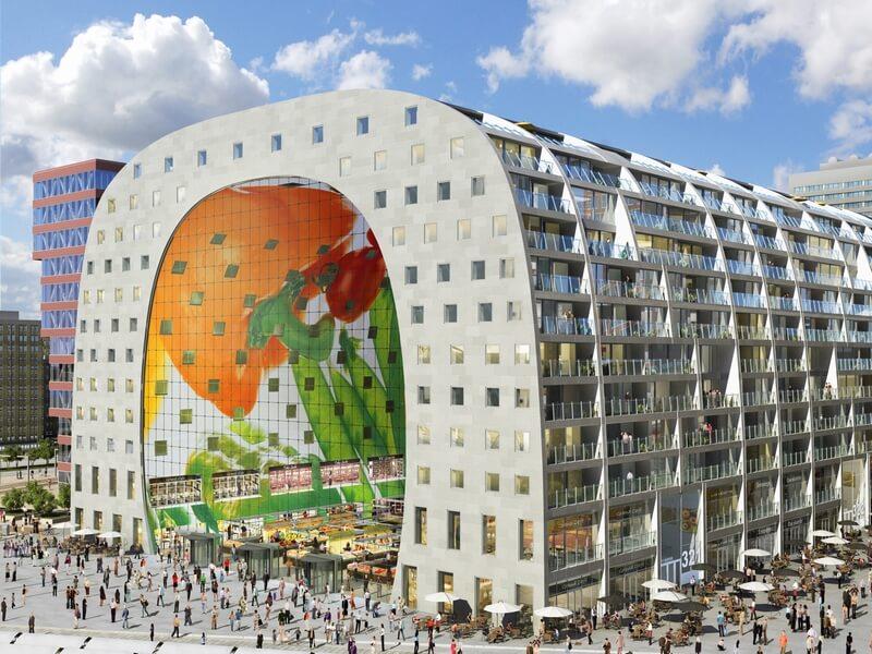 bv3 en Markthal in Rotterdam (op 5 in steden-top-10 van Lonly Planet)