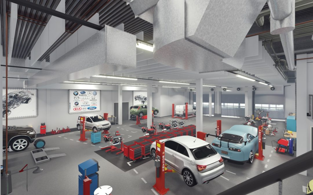 Nieuwbouw mobiliteitstechniek Nextechnician ROC van Amsterdam