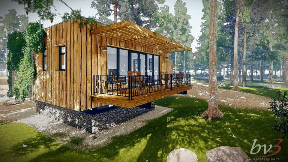 Duurzaam ontwerp 6 recreatiebungalows Vakantiepark Zevenbergen