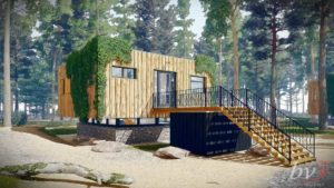 Vakantiepark Zevenbergen_duurzaam ontwerp E-W-B 6 recreatiebungalows